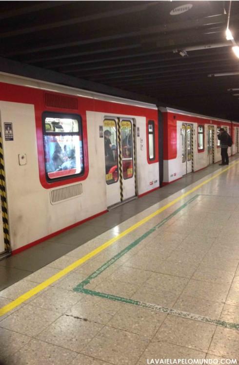 Metrô em Santiago