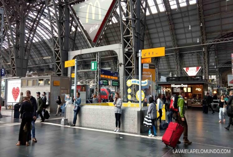 estação central de frankfurt