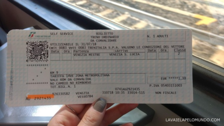 trem de veneza para veneza mestre