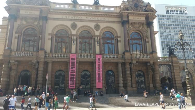 fachada do teatro municipal de sao paulo