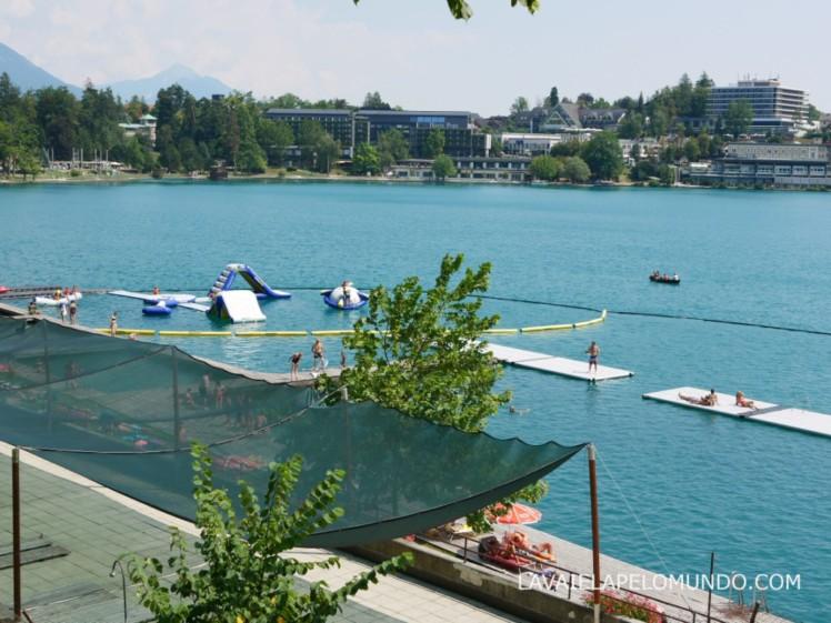 parque aquático lago de bled eslovênia