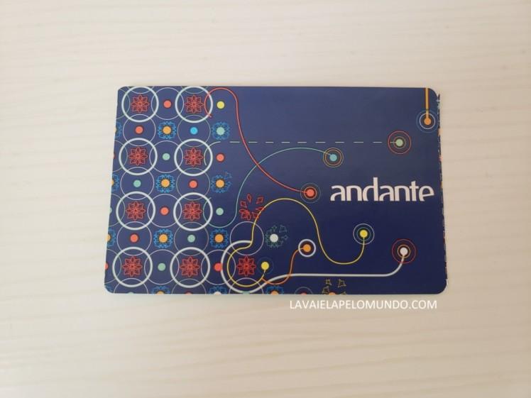 cartão andante porto portugal